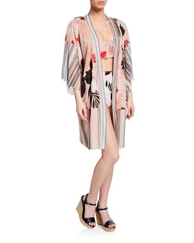 Patchwork Tulle Kimono