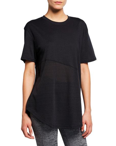 Under Armour Lighter Longer Mesh Crewneck T-Shirt, Black