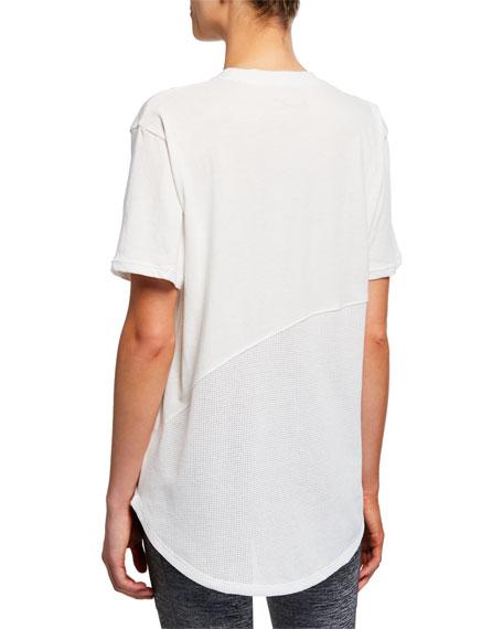 Under Armour Lighter Longer Mesh Crewneck Short-Sleeve T-Shirt, White