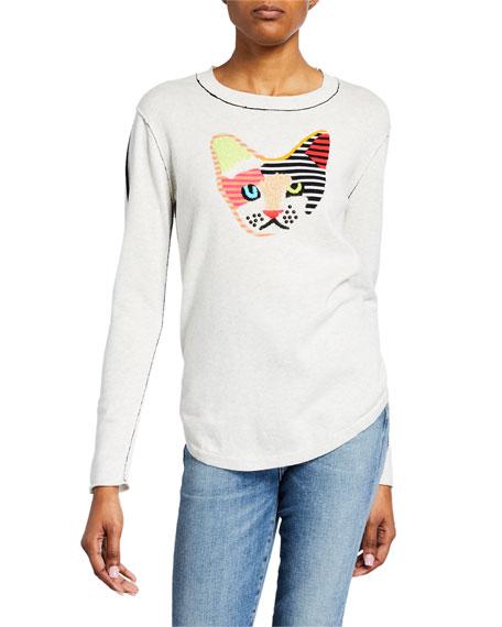 Lisa Todd Kool Kat Patchwork Long-Sleeve Sweater