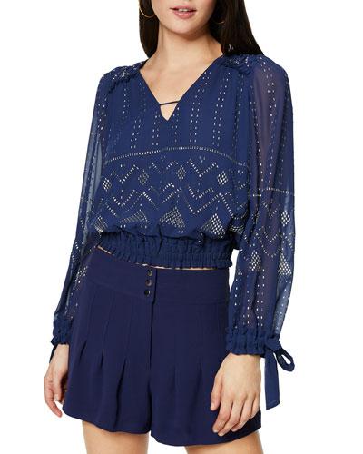 Leeor Embellished Long-Sleeve Top