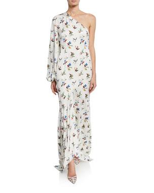 85118c3daa7 Solace London Savon Floral One-Shoulder Asymmetric Dress