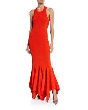 89b3cb8dd0c Solace London Kotara Sleeveless Asymmetrical Cocktail Dress