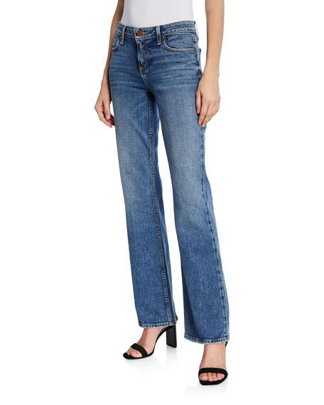 ALICE + OLIVIA JEANS Fabulous Super Low-Rise Boot-Cut Jeans