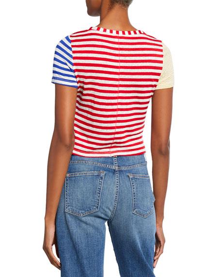 ALICE + OLIVIA JEANS Alder Short-Sleeve Cropped T-Shirt