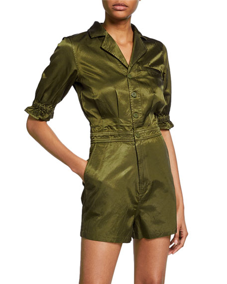 J Brand Renee Button-Front Romper