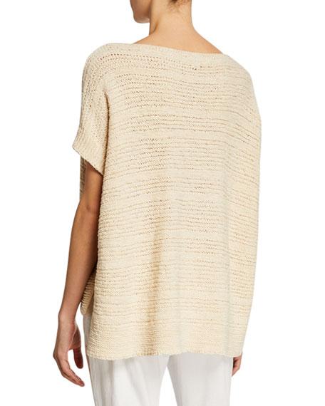 Eileen Fisher Petite Tape-Knit Organic Cotton Sweater