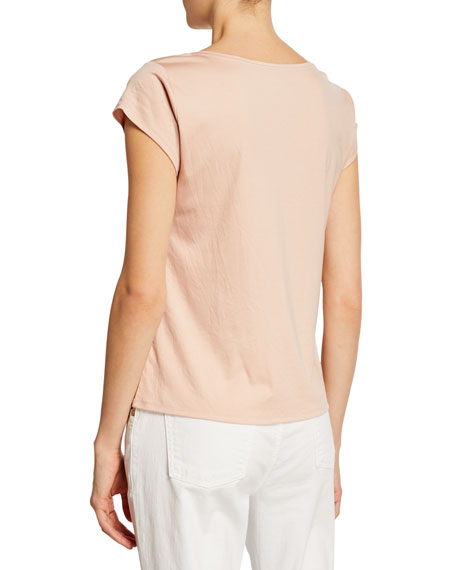 Eileen Fisher Plus Size Interlock Cap-Sleeve Tee