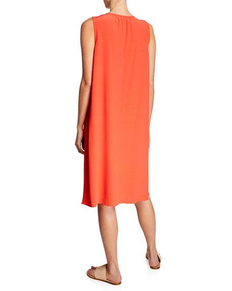 Eileen Fisher Petite Sleeveless Crepe Shift Dress