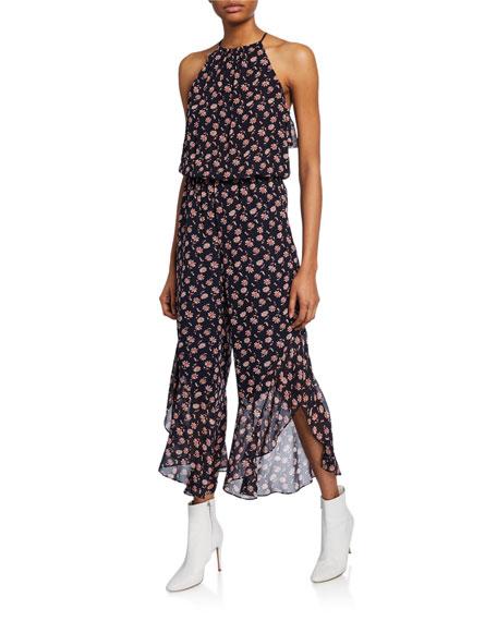 Joie Jael Silk Floral Jumpsuit