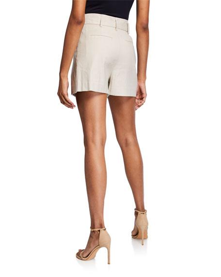 Joie Kaylei Linen Tie-Waist Shorts