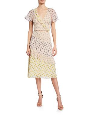 4b57407e1bab Joie Orita Silk Ruffled Floral Dress