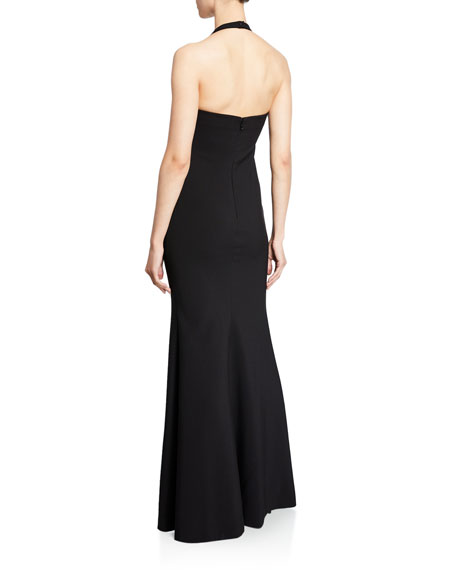 Likely Claire Halter Gown with Thigh-Slit