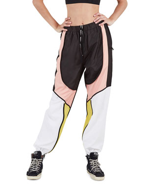 82df9d856b493 PE Nation Runout Colorblock Tapered Pants