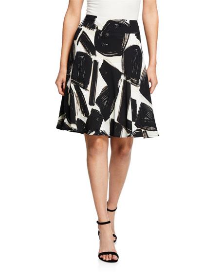 Nic+zoe Skirts NIGHTFALL ABSTRACT-PRINTED A-LINE SKIRT