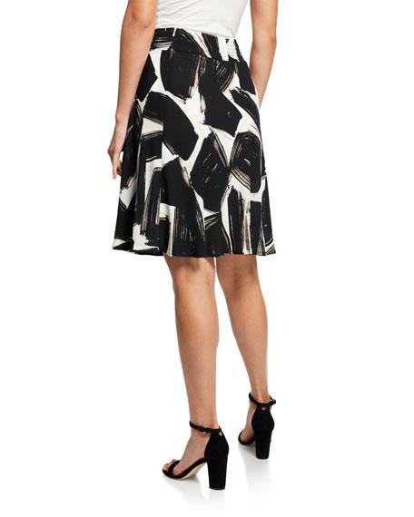 NIC+ZOE Plus Size Nightfall Abstract-Printed A-Line Skirt