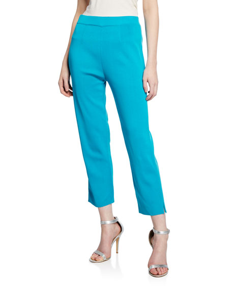 Misook Plus Size Mid-Rise Straight-Leg Cropped Pull-On Pants