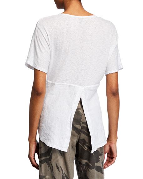 XCVI Haystack Split-Back Slub Shirt