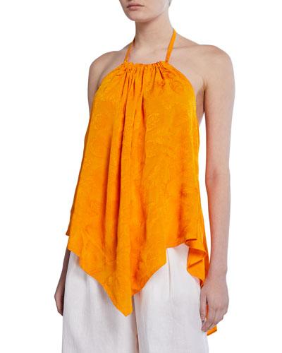 Erin Jacquard Handkerchief Halter Top