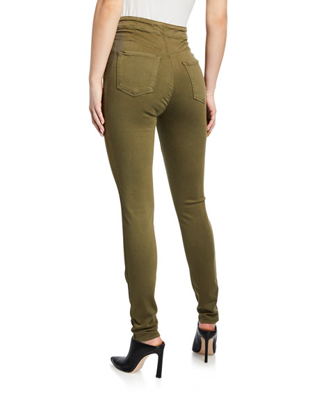 J Brand Natasha Button-Fly Ankle Skinny Pants