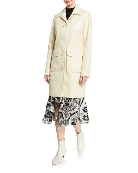 Elie Tahari Sampson Button-Front Coat