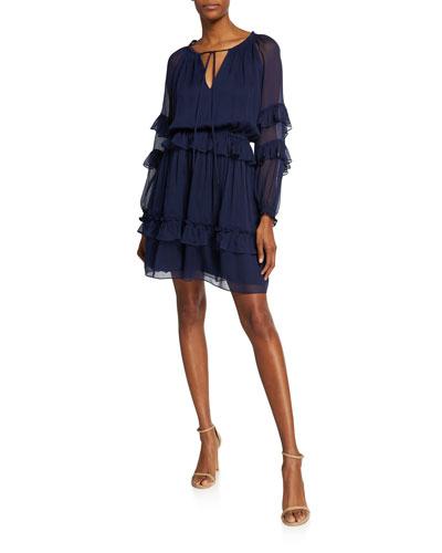 Haven Drop-Waist Ruffle Dress