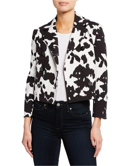 Diane von Furstenberg Macie Cropped Animal-Print Jacket