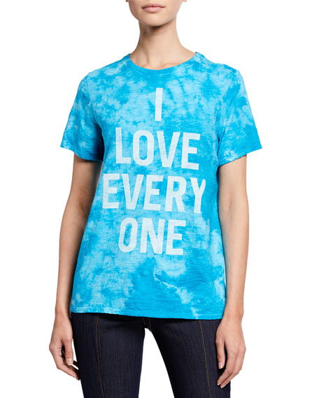 cinq a sept I Love Everyone Tie-Dye Tee