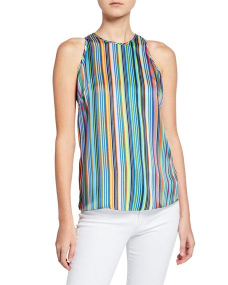Milly Marie Rainbow Stripes Halter Tank
