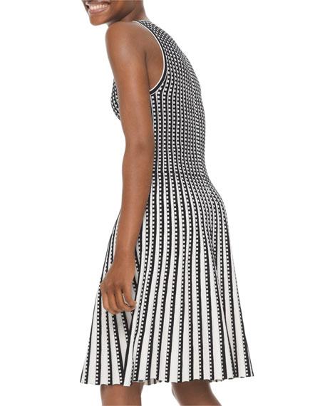 MICHAEL Michael Kors Geo Grid Pleated Sleeveless Dress