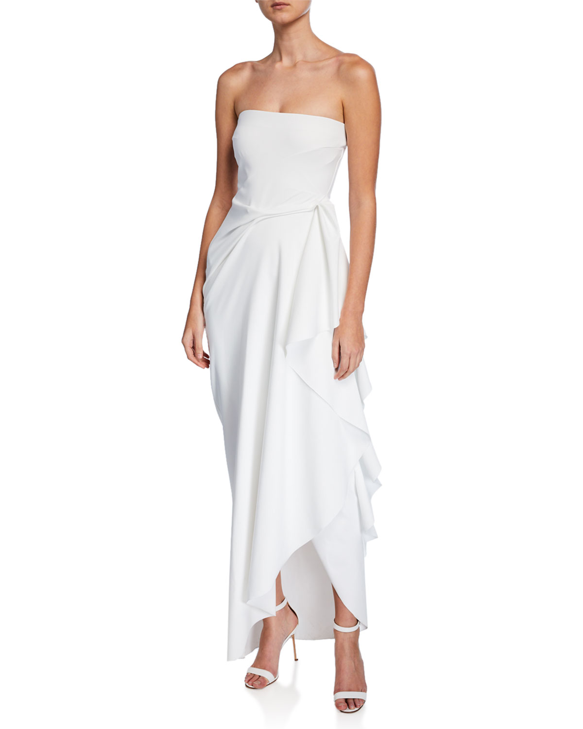 b7c155e168 Chiara Boni La Petite RobeNyaveth Strapless Bustier Side-Drape Long Dress