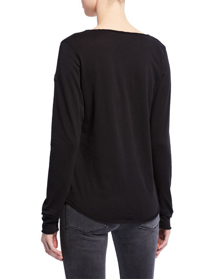 Zadig & Voltaire Tunisien Amour Long-Sleeve T-Shirt