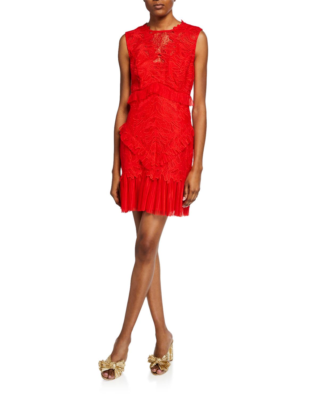 53789d5d90e6c Bardot Francesca Sleeveless Lace Cocktail Dress | Neiman Marcus
