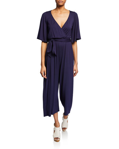 Plus Size Meredith Cropped Jersey Jumpsuit