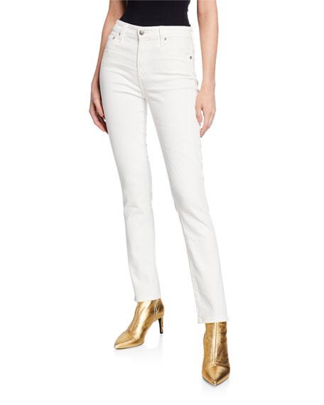 AG The Mari High-Rise Straight-Leg Jeans