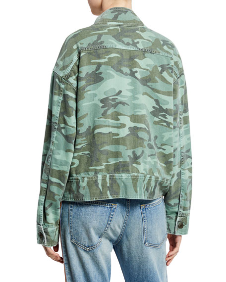 AMO Denim Army Patch Camo Jacket