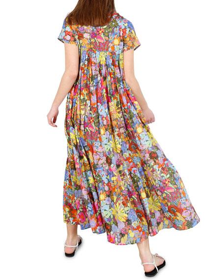 Whit Gillian Floral-Print Short-Sleeve Dress