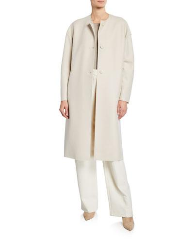 Long Oversized Light Wool Coat