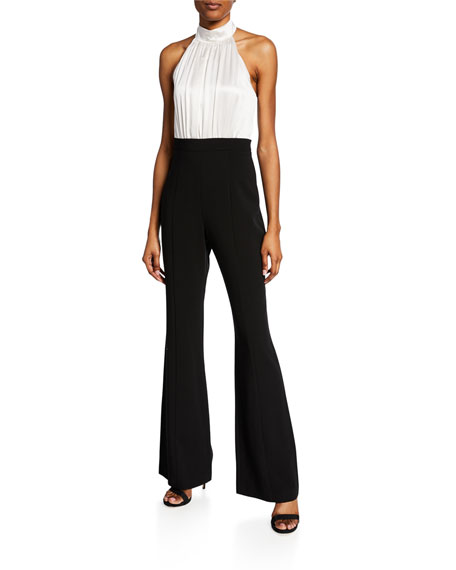 Black Halo Genesis Colorblock Halter Jumpsuit