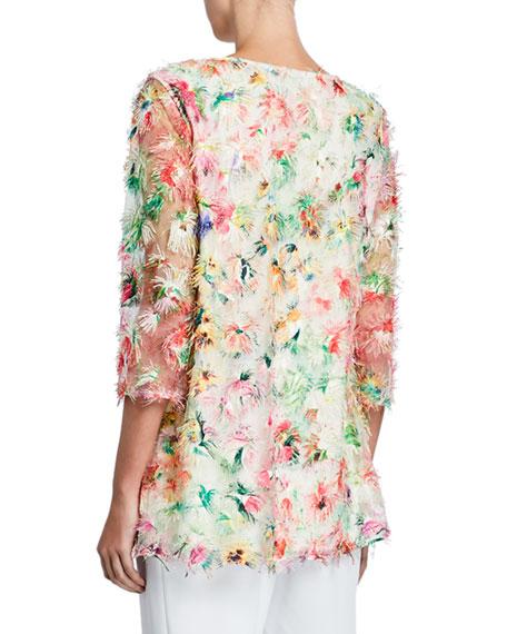 Caroline Rose Sunshine State Mulitcolor Embroidered Tunic