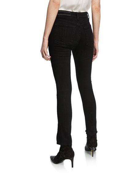 Rag & Bone Nina High-Rise Ankle Skinny w/ Zippers