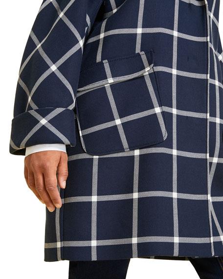 Marina Rinaldi Plus Size Targa Windowpane Coat