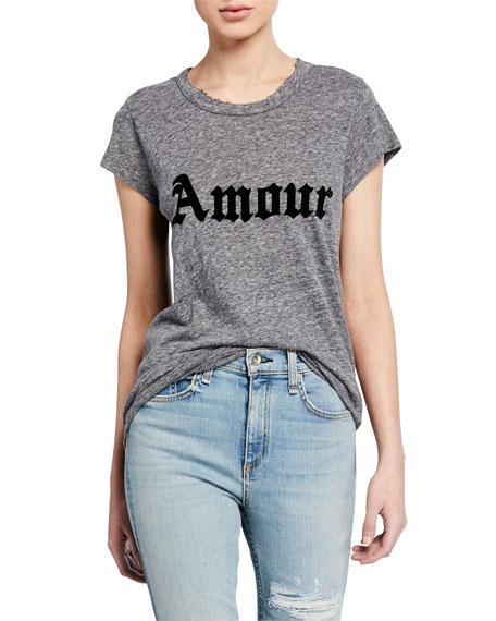 Zadig & Voltaire T-shirts AMOUR SKINNY SHORT-SLEEVE T-SHIRT