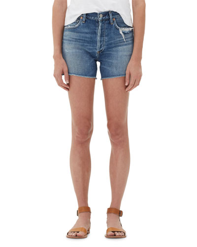 Nikki Patchwork Raw Shorts
