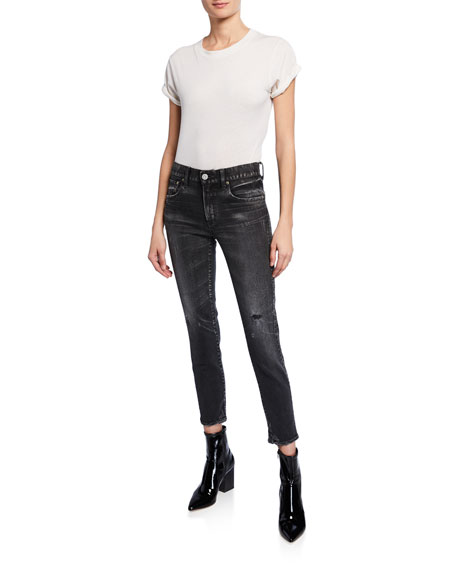 MOUSSY VINTAGE Velma Cropped Mid-Rise Skinny Jeans
