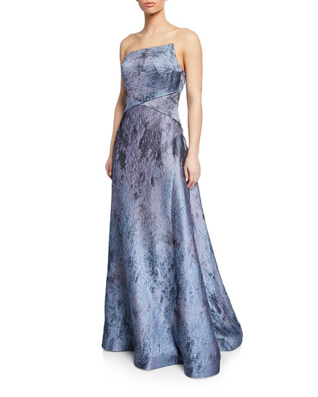 376fad3d2 Rene Ruiz Strapless Textured Metallic Ball Gown | Neiman Marcus