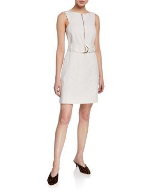 0e4458253 Club Monaco Lizel Belted Zip-Front Dress