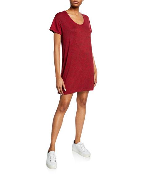 Rag & Bone Clara Scoop-Neck Short-Sleeve Torqued Tee Dress