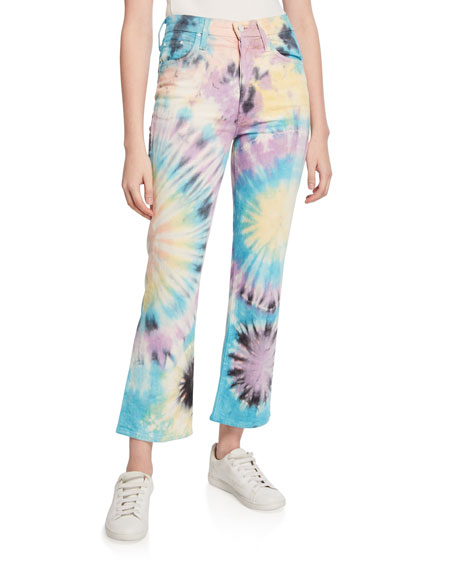MOTHER The Tripper High-Rise Jeans w/ Chewed Hem