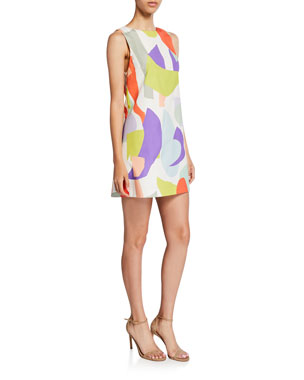 26599ecca320a Alice + Olivia Clyde Geo-Print Shift Dress
